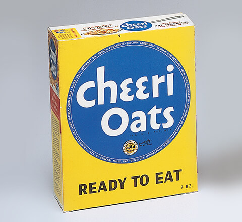 The orginal Cheeri-Oats box