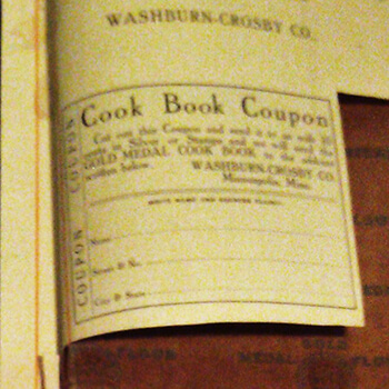 Laurine Williams' 1910 coupon for a Gold Medal cook book