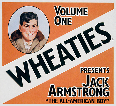 Jack Armstrong on the Wheaties Box