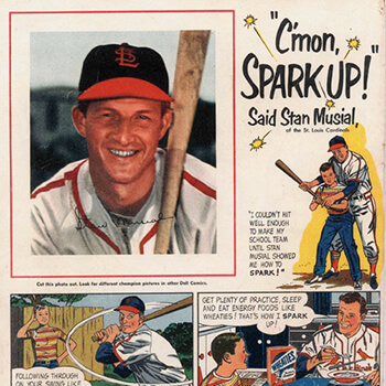 Stan Musial 'Spark up' Wheaties ad